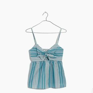 Madewell Striped TieFront Keyhole Cami Top Fits 10